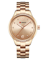 cheap -CURREN Women's Dress Watch Bracelet Watch Gold Watch Quartz Ladies Water Resistant / Waterproof Silver / Gold Analog - White / Gold Gold Silver / Calendar / date / day / Large Dial