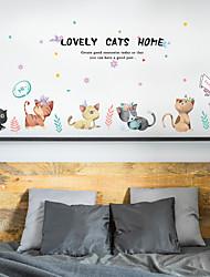 Недорогие -sk7184 милый кот прикроватная тумбочка холодильник холодильник детская комната детский сад декоративные наклейки на стену