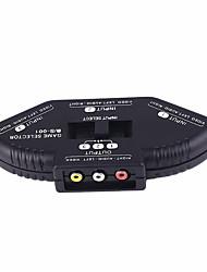 Недорогие -Блок переключения видеосигнала AV 3 в 1 out AV аудио и видео конвертер