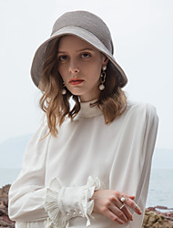 cheap -Polyester Straw Hats with Metal Chain 1pc Casual / Daily Wear Headpiece