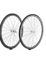 cheap -FARSPORTS 700CC Wheelsets Cycling 25 mm Road Bike Carbon Fiber Clincher / Tubeless Compatible 20/24 Spokes 38 mm