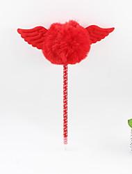 abordables -aile en plastique boule de cheveux crayon bleu plomb bille artisanat cadeaux pour les enfants apprenant la papeterie de bureau