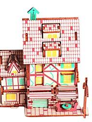 abordables -Puzzles en bois Jeux de Logique & Casse-tête Maison Café Fait à la main Interaction parent-enfant En bois 1 pcs Enfant Adulte Jouet Cadeau