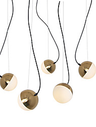 cheap -5 lights globe pendant light/ glass lamp diy for living room dinning room shop room coffee bar gold electroplating/ 110-120v/220-240v/e12/e14 without bulb/ a/b model available