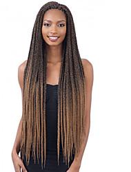 cheap -Faux Locs Dreadlocks Senegalese Twist Box Braids Natural Color Synthetic Hair 30 inch Braiding Hair 3 Pieces Ombre Hair