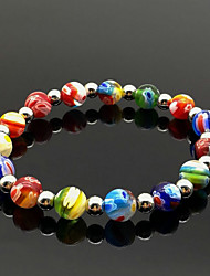 cheap -Women's Bead Bracelet Braided Weave Casual / Sporty Healing Glass Bracelet Jewelry Rainbow For Party Daily