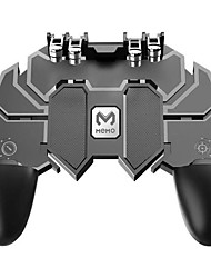 cheap -AK66 SIX FINGER ALL-IN-ONE PUBG MOBILE GAME CONTROLLER FREE FIRE KEY BUTTON JOYSTICK GAMEPAD L1 R1 TRIGGER FOR PUBG