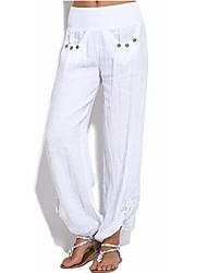 cheap -Women's Boho Plus Size Loose Chinos Pants - Solid Colored Split / Patchwork High Waist Gray Army Green Khaki XXXL XXXXL XXXXXL