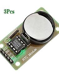 abordables -3pcs ds1302 module horloge temps réel avec pile bouton cr2032