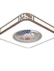 abordables -QIHengZhaoMing Ventilateur de plafond Lumière d'ambiance Finitions Peintes Acrylique 110-120V / 220-240V