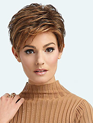 cheap -Synthetic Wig Curly Side Part Wig Short Brown / Burgundy Synthetic Hair 12 inch Women's Fashionable Design Women Synthetic Brown