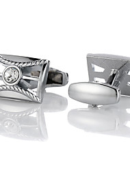 cheap -Cufflinks Classic Fashion Crystal Brooch Jewelry Silver For Gift Daily