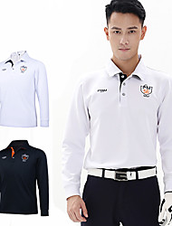 cheap -Men's Tee / T-shirt Long Sleeve Golf Outdoor Autumn / Fall Winter / Cotton / Stretchy / Quick Dry / Thermal / Warm / Solid Color