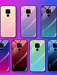 Недорогие -Кейс для Назначение Huawei Mate 10 pro / Mate 10 lite / Huawei Mate 20 lite С узором Кейс на заднюю панель Слова / выражения / Градиент цвета Мягкий Закаленное стекло