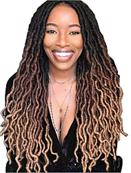 cheap -Faux Locs Dreadlocks Nu Locs Box Braids Natural Color Synthetic Hair 18 inch Braiding Hair
