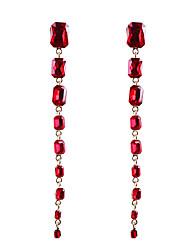 cheap -Women's Crystal Drop Earrings Dangle Earrings European Trendy Fashion Modern Earrings Jewelry Black / White / Champagne For Party Daily Carnival Work Festival 1 Pair