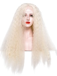 cheap -Synthetic Lace Front Wig Natural Wave Water Wave Free Part Glueless Lace Front Lace Front Wig Long Brown / White Synthetic Hair 22-26 inch Women's Cosplay Party Women White EEWigs / Natural Hairline