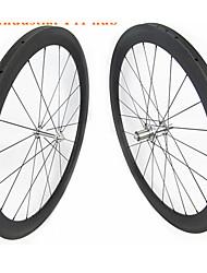 cheap -FARSPORTS 700CC Wheelsets Cycling 23 mm Road Bike Carbon Fiber Tubular 20/24 Spokes 60 mm