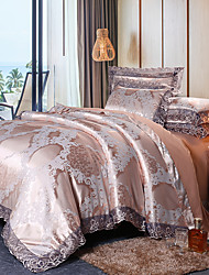 cheap -Lace Jacquard Tencel Modal Satin jacquard sheets Wedding 4 piece bedding set