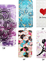cheap -Case For Samsung Galaxy S9 / S9 Plus / S8 Plus Card Holder / with Stand / Flip Full Body Cases Butterfly / Heart Hard PU Leather