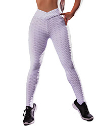 cheap -Women's Yoga Pants Solid Color Elastane Running Fitness Gym Workout Tights Leggings Bottoms Activewear Moisture Wicking Butt Lift Tummy Control Power Flex High Elasticity Skinny