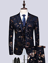 cheap -Tuxedos Standard Fit Notch Single Breasted Two-buttons Polyester Floral