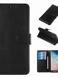 Недорогие -Кейс для Назначение SSamsung Galaxy S9 / S9 Plus / S8 Plus Кошелек / Бумажник для карт / Защита от удара Чехол Однотонный Твердый Кожа PU