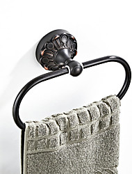 cheap -The Oval Retro Black Embossed Chassis Towel Bar New Design Country / Antique Brass 1pc - Bathroom / Hotel bath Wall Mounted