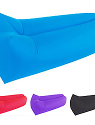 cheap -Air Sofa Inflatable Sofa Sleep lounger Air Bed Outdoor Camping Waterproof Portable Fast Inflatable Polyester Taffeta 205*70 cm Fishing Beach Camping for 1 person Spring Summer Fall Blue Pink Violet