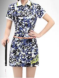 cheap -Women's Dress Short Sleeve Golf Athleisure Outdoor Spring Summer / High Elasticity / UV Resistant / Camo / Camouflage