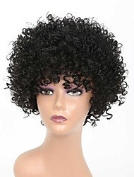 cheap -Synthetic Wig Afro Curly Rihanna Free Part Wig Short Black#1B Synthetic Hair 10 inch Women's Classic Easy to Carry Easy dressing Black / Natural Hairline / Natural Hairline / For Black Women
