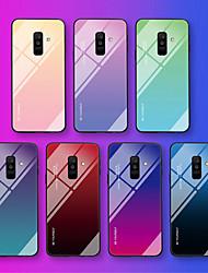 Недорогие -Кейс для Назначение SSamsung Galaxy A6 (2018) / A6+ (2018) / Galaxy A7(2018) С узором Кейс на заднюю панель Слова / выражения / Градиент цвета Мягкий Закаленное стекло