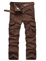 cheap -Men's Hiking Pants Hiking Cargo Pants Tactical Pants Winter Outdoor Durable Wear Resistance Multi Pocket Cotton Pants / Trousers Bottoms Black Army Green Khaki Coffee Camping / Hiking Hunting Fishing
