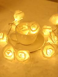 cheap -2.5m Rose String Lights 20 LEDs Warm White Valentine Christmas Decorative AA Batteries Powered 1 set