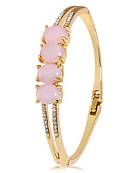 cheap -Women's Pink Synthetic Tanzanite Tennis Bracelet Classic Precious Luxury Fashion Elegant Gold Plated Bracelet Jewelry Gold For Daily / Imitation Diamond