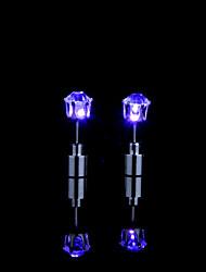 Недорогие -1 пара светящиеся светодиодные серьги загораются корона свечение мода кристалл горный хрусталь ювелирные изделия женщины элегантный посеребренные серьги крюк
