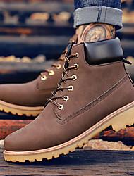 Недорогие -Муж. Комфортная обувь Синтетика Весна лето / Наступила зима На каждый день / Английский Ботинки Черный / Коричневый / Желтый / на открытом воздухе