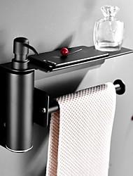 abordables -noir distributeur de savon en acier inoxydable main distributeur de savon liquide squeeze mural hôtel salle de bains cuisine carré design papier porte-serviettes