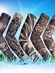 cheap -1PC Outdoor Cycling Sleeves 3D Tattoo Printed Armwarmer MTB Bike Bicycle Sleeves Arm Protection Ridding Arm Sleeves