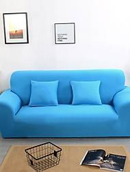 abordables -housses de canapé bleu uni en polyester à impression réactive imprimée de manière réactive