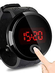 cheap -Men's Digital Watch Digital Rubber Black 30 m Water Resistant / Waterproof Touch Screen Casual Watch Digital LED Fashion - Black One Year Battery Life / Stainless Steel