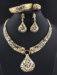 cheap -Women's Gold Bridal Jewelry Sets Link / Chain Botanical Vintage Rhinestone Earrings Jewelry Gold For Wedding Engagement Gift 1 set