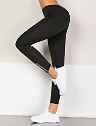 cheap -Women's Yoga Pants Solid Color Mesh Elastane Running Fitness Tights Activewear Lightweight Soft Butt Lift Tummy Control High Elasticity