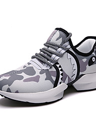 cheap -Men's Light Soles Tissage Volant Spring & Summer Sporty Athletic Shoes Running Shoes Breathable Color Block Black and White / White / Khaki / Tassel