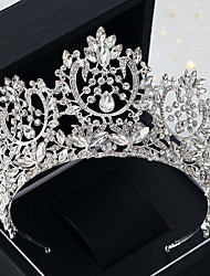 cheap -Alloy Tiaras with Sparkling Glitter 1 Piece Wedding / Special Occasion Headpiece
