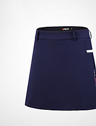 cheap -Women's Skirt Golf Athleisure Outdoor Autumn / Fall Spring Summer Winter / Cotton / Stretchy / UV Resistant / Solid Color