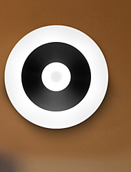 Недорогие -LED Night Light Творчество / Датчик человеческого тела Аккумуляторы AA 1шт