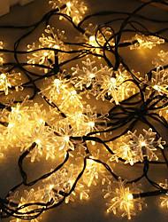 Недорогие -1 комплект светодиодный фонарь солнечный свет строка 10 м 50 свет снежинка рождество снежинка открытый водонепроницаемый свет ночной свет