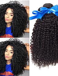 cheap -3 Bundles Indian Hair Kinky Curly Virgin Human Hair 100% Remy Hair Weave Bundles Headpiece Bundle Hair Human Hair Extensions 8-28 inch Natural Human Hair Weaves Easy to Carry Women New Arrival Human