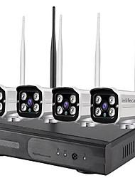 Недорогие -4-канальный 960 P умный дом видеонаблюдения безопасности 4-канальный 1.3-мегапиксельная IP-сеть мониторинга мобильных приложений приложение открытый водонепроницаемый беспроводной Wi-Fi Nvr камеры